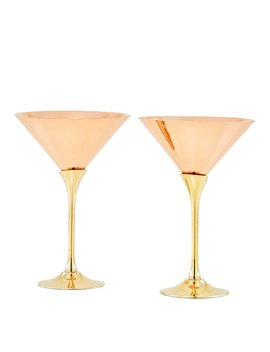 Old Dutch Solid Copper Brass Stem 6 Oz. Martini Glass by Old Dutch International