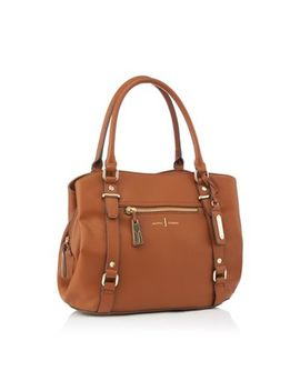 J By Jasper Conran   Tan Zip Detail Hobo Shoulder Bag by J By Jasper Conran