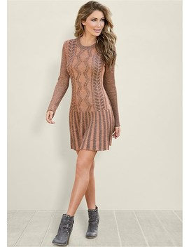 Two Tone Sweater Dress by Venus