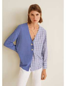 Combined Check  Blouse by Mango