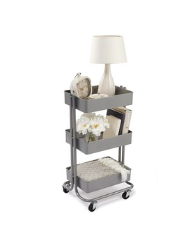Gray Lexington 3 Tier Rolling Cart By Recollections™ by Recollections