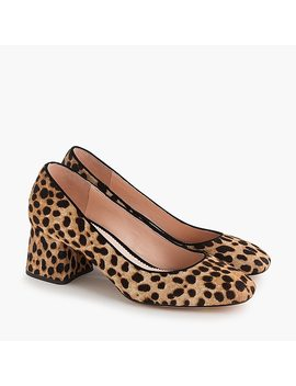 Block Heel Pumps In Leopard by J.Crew