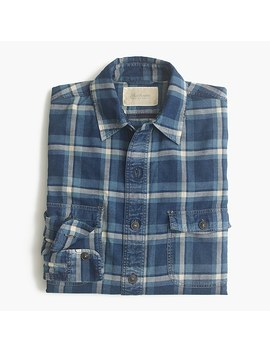 Shuttle Notes® Indigo Plaid Shirt by Shuttle Notes