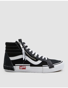 Sk8 Hi Cap Lx Sneaker In Black/True White by Vault By Vans