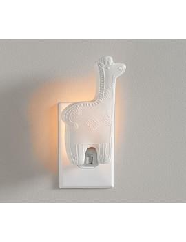 Ceramic Giraffe Nightlight by Pottery Barn Kids