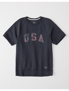 Usa Short Sleeve Crew by Abercrombie & Fitch