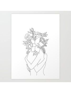 Blossom Hug Art Print by