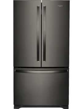 25.2 Cu. Ft. French Door Refrigerator With Internal Water Dispenser   Black Stainless Steel by Whirlpool