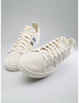 Adidas Originals Men Cream Coloured Campus Pride Sneakers by Adidas Originals