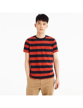 J.Crew Mercantile Broken In T Shirt In Red Rugby Stripe by J.Crew