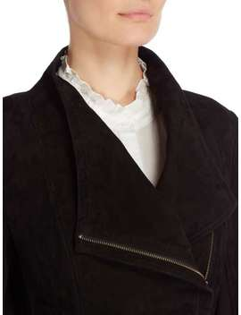 Adelaide Suede Jacket In Black by Second Female
