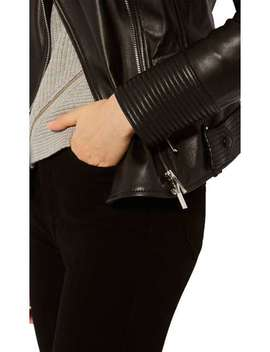 Fitted Leather Jacket by Karen Millen