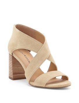 Vidva Suede Block Heel Sandals by Generic