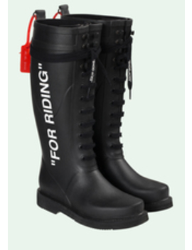 For Riding Wellington Boots by Off White
