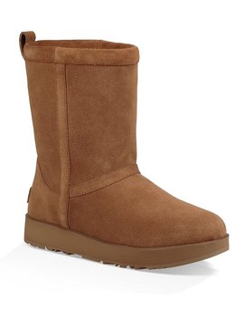 Ugg® Classic Short Waterproof Suede Boots by Generic