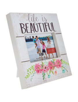 "Life Is Beautiful Wood Frame   4"" X 6"" by Hobby Lobby"