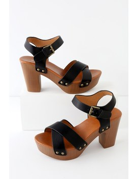 Yalla Black Platform Sandals by Lulu's