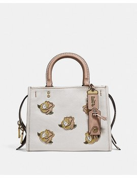 Rogue 25 With Rose Applique by Coach