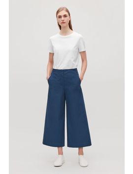 Poplin Wide Leg Trousers by Cos