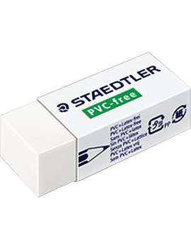 Staedtler® Latex  And Pvc  Free Erasers, White, 2/Pack by Staples