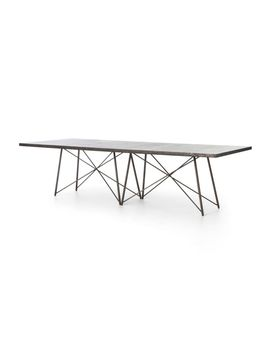 "Roman 114"" Iron Base Dining Table by Crate&Barrel"
