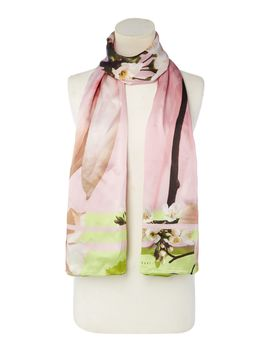 Debbie Long Wide Floral Silk Scarf by Ted Baker