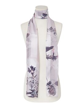 Pressed Herb Devore Scarf by Linea