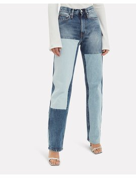 High Rise Straight Leg Jeans by Calvin Klein Jeans