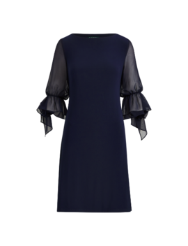 Georgette Sleeve Jersey Dress by Ralph Lauren
