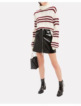 Penelope Patent Mini Skirt by Ronny Kobo