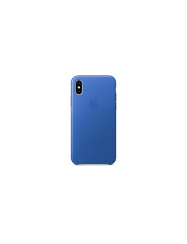 I Phone X Leather Case   Electric Blue by Apple