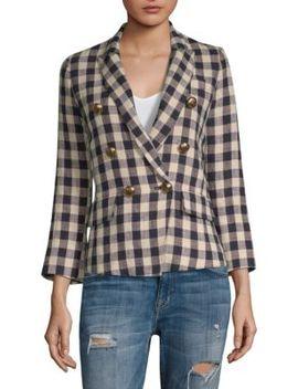 Mini Double Breasted Linen Blazer by Smythe