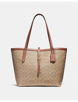 Market Tote In Signature Canvas by Coach