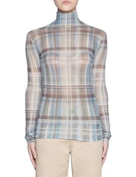 Long Sleeve Fitted Plaid Top by Acne Studios