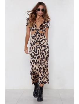 So Fierce Leopard Crop Top And Skirt Set by Nasty Gal