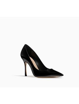 Escarpin En Cuir De Veau Verni Noir 10 Cm by Dior