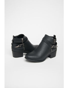 Buckled Ankle Boots by Ardene