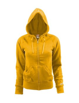 Gold Rugby Zip Hoodie   Women by Zulily