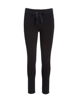 Black Soffe Sparkle Fleece Skinny Pants   Women by Soffe