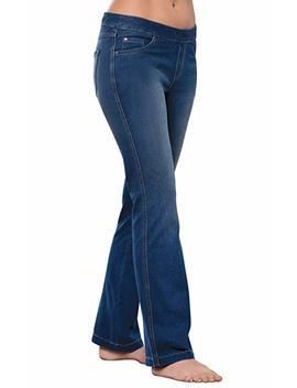 Pajama Jeans Petite Bootcut Stretch Knit Denim Jeans Women by Pajama Jeans