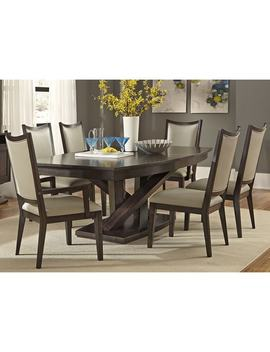 Southpark Charcoal Contemporary 48x84 Pedestal Dinette Table by Liberty
