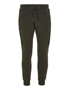 Jog On Green And Black Premium Joggers* by Topman