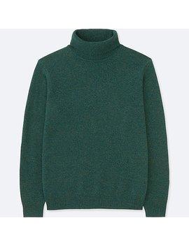 Men Premium Lambswool Turtleneck Long Sleeve Sweater by Uniqlo