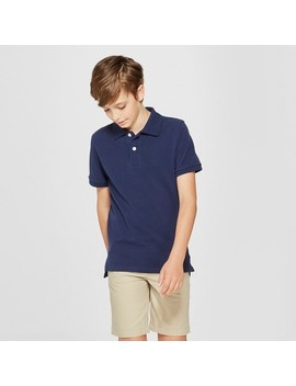Boys' Short Sleeve Pique Uniform Polo Shirt   Cat &Amp; Jack™ by Boys' Short Sleeve Pique Uniform Polo Shirt   Cat &Amp; Jack