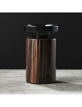 Paz Small Wood Pillar Candle Holder by Crate&Barrel