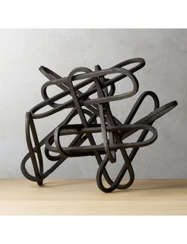 Links Black Sculpture by Crate&Barrel