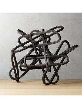 Links Black Sculpture by Crate&Barrel