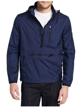 Hooded Packable Pullover by Calvin Klein