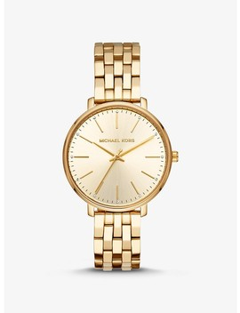Pyper Gold Tone Watch by Michael Kors