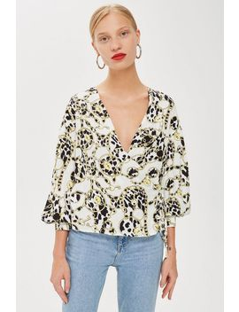 Chain Wrap Blouse by Topshop